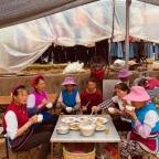 Auf dem Bauernmarkt in Xiashaping